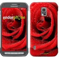 Чехол для Samsung Galaxy S5 Active G870 Красная роза 529u-364