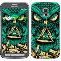 Чехол для Samsung Galaxy S5 Active G870 Сова Арт-тату 3971u-364