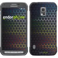Чехол для Samsung Galaxy S5 Active G870 Переливающиеся соты 498u-364
