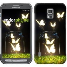 Чехол для Samsung Galaxy S5 Active G870 Светящиеся бабочки 2983u-364