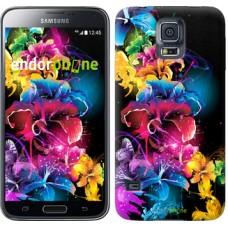 Чехол для Samsung Galaxy S5 Duos SM G900FD Абстрактные цветы 511c-62