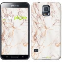 Чехол для Samsung Galaxy S5 Duos SM G900FD Белый мрамор 3847c-62