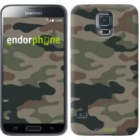Чехол для Samsung Galaxy S5 Duos SM G900FD Камуфляж v3 1097c-62