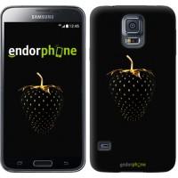 Чехол для Samsung Galaxy S5 Duos SM G900FD Черная клубника 3585c-62