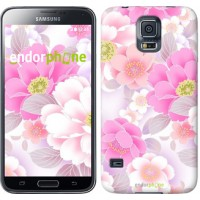 Чехол для Samsung Galaxy S5 Duos SM G900FD Цвет яблони 2225c-62