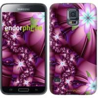 Чехол для Samsung Galaxy S5 Duos SM G900FD Цветочная мозаика 1961c-62