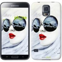 Чехол для Samsung Galaxy S5 Duos SM G900FD Девушка акварелью 2829c-62