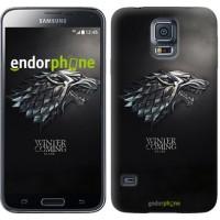 Чехол для Samsung Galaxy S5 Duos SM G900FD Game of thrones. Stark House 1120c-62