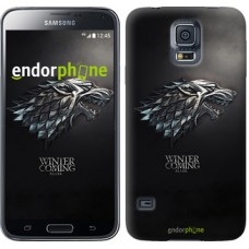 Чехол для Samsung Galaxy S5 Duos SM G900FD Game of thrones. Stark House 1120c-62