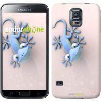 Чехол для Samsung Galaxy S5 Duos SM G900FD Гекончик 1094c-62
