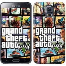 Чехол для Samsung Galaxy S5 Duos SM G900FD GTA 5. Collage 630c-62