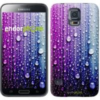Чехол для Samsung Galaxy S5 Duos SM G900FD Капли воды 3351c-62
