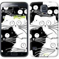Чехол для Samsung Galaxy S5 Duos SM G900FD Коты v2 3565c-62