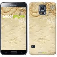 Чехол для Samsung Galaxy S5 Duos SM G900FD Кружевной орнамент 2160c-62