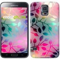 Чехол для Samsung Galaxy S5 Duos SM G900FD Листья 2235c-62