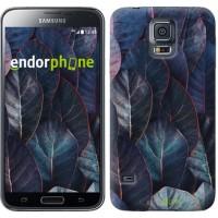 Чехол для Samsung Galaxy S5 Duos SM G900FD Листья v3 3328c-62