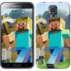 Чехол для Samsung Galaxy S5 Duos SM G900FD Minecraft 4 2944c-62