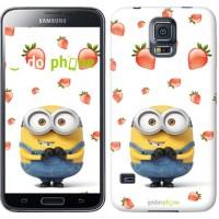 Чехол для Samsung Galaxy S5 Duos SM G900FD Миньон с клубникой 3369c-62