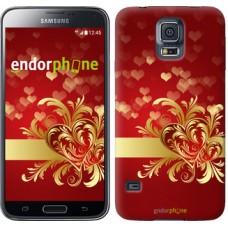 Чехол для Samsung Galaxy S5 Duos SM G900FD Ажурные сердца 734c-62