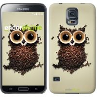 Чехол для Samsung Galaxy S5 Duos SM G900FD Сова из кофе 777c-62