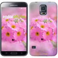 Чехол для Samsung Galaxy S5 Duos SM G900FD Розовая примула 508c-62