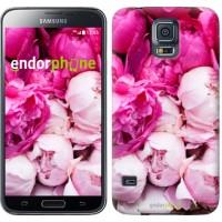 Чехол для Samsung Galaxy S5 Duos SM G900FD Розовые пионы 2747c-62