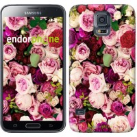 Чехол для Samsung Galaxy S5 Duos SM G900FD Розы и пионы 2875c-62