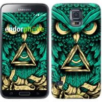 Чехол для Samsung Galaxy S5 Duos SM G900FD Сова Арт-тату 3971c-62