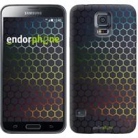 Чехол для Samsung Galaxy S5 Duos SM G900FD Переливающиеся соты 498c-62