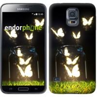 Чехол для Samsung Galaxy S5 Duos SM G900FD Светящиеся бабочки 2983c-62