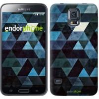 Чехол для Samsung Galaxy S5 Duos SM G900FD Треугольники 2859c-62