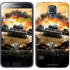 Чехол для Samsung Galaxy S5 Duos SM G900FD World of tanks v1 834c-62