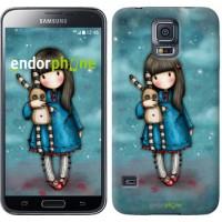 Чехол для Samsung Galaxy S5 G900H Девочка с зайчиком 915c-24