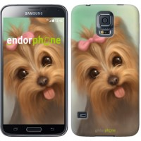 Чехол для Samsung Galaxy S5 G900H Нарисованный йоркширский терьер 928c-24