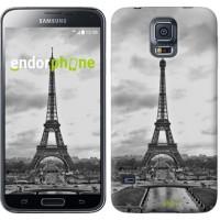 Чехол для Samsung Galaxy S5 G900H Чёрно-белая Эйфелева башня 842c-24