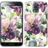 Чехол для Samsung Galaxy S5 G900H Цветы акварелью 2237c-24