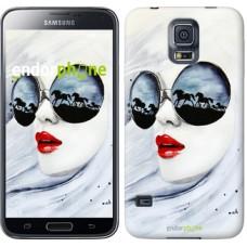 Чехол для Samsung Galaxy S5 G900H Девушка акварелью 2829c-24