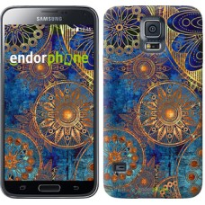 Чехол для Samsung Galaxy S5 G900H Золотой узор 678c-24