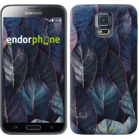 Чехол для Samsung Galaxy S5 G900H Листья v3 3328c-24