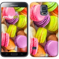 Чехол для Samsung Galaxy S5 G900H Макаруны 2995c-24