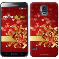 Чехол для Samsung Galaxy S5 G900H Ажурные сердца 734c-24