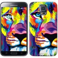 Чехол для Samsung Galaxy S5 G900H Разноцветный лев 2713c-24