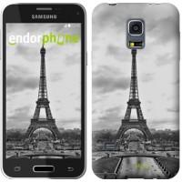 Чехол для Samsung Galaxy S5 mini G800H Чёрно-белая Эйфелева башня 842m-44