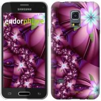 Чехол для Samsung Galaxy S5 mini G800H Цветочная мозаика 1961m-44