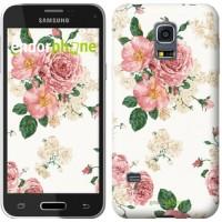 Чехол для Samsung Galaxy S5 mini G800H цветочные обои v1 2293m-44