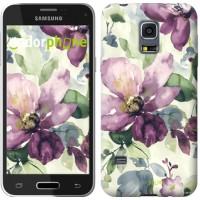 Чехол для Samsung Galaxy S5 mini G800H Цветы акварелью 2237m-44