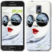 Чехол для Samsung Galaxy S5 mini G800H Девушка акварелью 2829m-44
