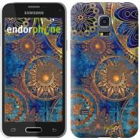 Чехол для Samsung Galaxy S5 mini G800H Золотой узор 678m-44