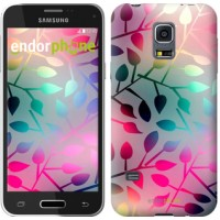 Чехол для Samsung Galaxy S5 mini G800H Листья 2235m-44