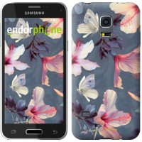 Чехол для Samsung Galaxy S5 mini G800H Нарисованные цветы 2714m-44